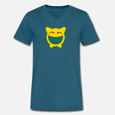 Gloomy Gloomy Laughs! - Men's V-Neck T-Shirt by Canvas