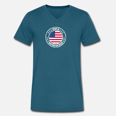 Huntington HUNTINGTON BEACH - Men's V-Neck T-Shirt by Canvas