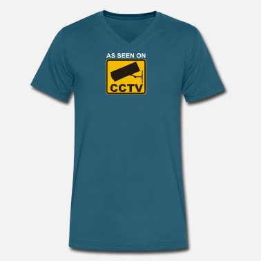 Chav AS SEEN ON CCTV chav rude funny cool modern fun - Men's V-Neck T-Shirt by Canvas