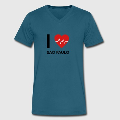 I Love Sao Paulo - Men's V-Neck T-Shirt by Canvas