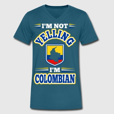 Im Not Yelling Im Colombian - Men's V-Neck T-Shirt by Canvas