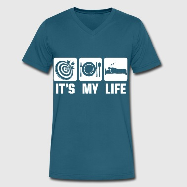 Dart is my Life - Men's V-Neck T-Shirt by Canvas