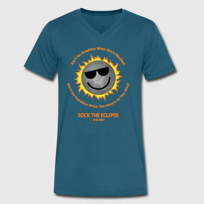 Ain't No Sunshine Eclipse Shirt - Men's V-Neck T-Shirt by Canvas