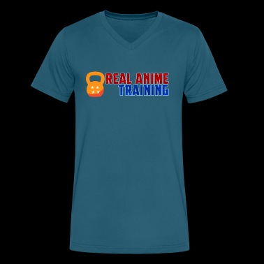 Real Anime Training Kettlebell - Men's V-Neck T-Shirt by Canvas