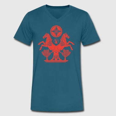 Ancient Herald - Red - Men's V-Neck T-Shirt by Canvas