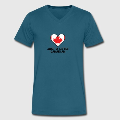 Just A Little Canadian - Men's V-Neck T-Shirt by Canvas