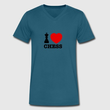 chess love - Men's V-Neck T-Shirt by Canvas