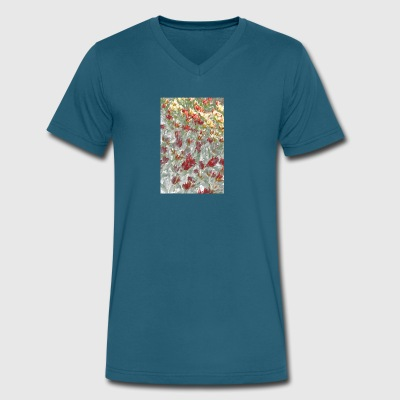 Impressionistic Tulips - Men's V-Neck T-Shirt by Canvas