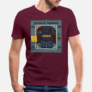 Robot Toy Space Robot Box Toy - Men's V-Neck T-Shirt
