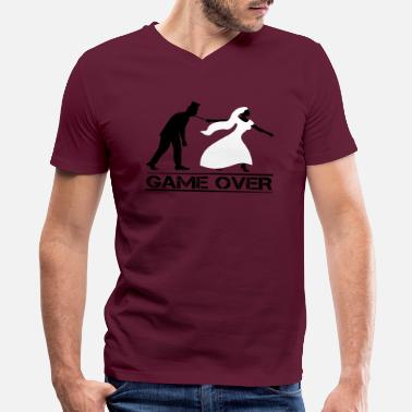Stag Do game over bride and groom wedding stag night - Men's V-Neck T-Shirt