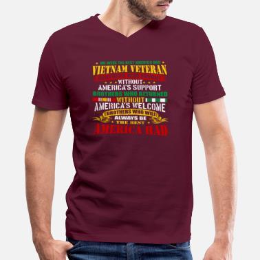 46719620 Proud Vietnam Veteran America Vietnam War Veterans - Men's V-Neck