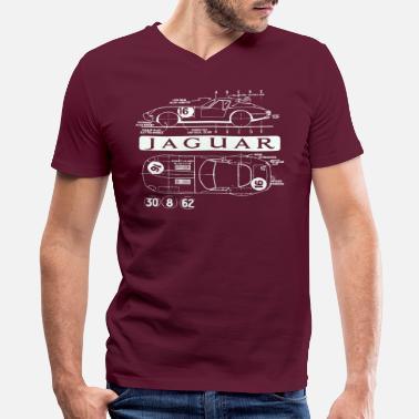 857823eab934a Jaguar Car lightweight xke - Men's V-Neck T-Shirt