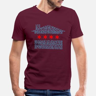 Chicago Jack's Chicago House Flag - Men's V-Neck T-Shirt