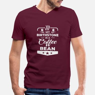 Coffee Bean Birthstone Coffee Bean - Men's V-Neck T-Shirt