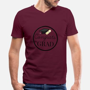 Congratulations Congrats Grad - congratulations for Graduation - Men's V-Neck T-Shirt