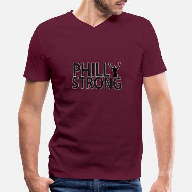 Philly Strong - Men's V-Neck T-Shirt