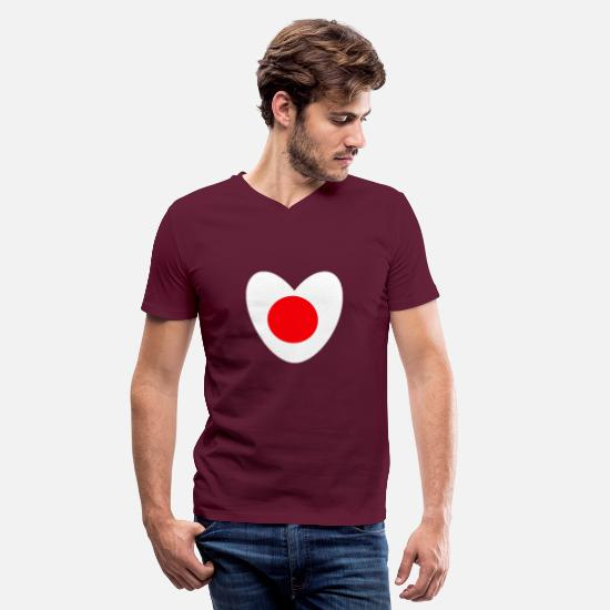 Japan T-Shirts - japan - Men's V-Neck T-Shirt maroon