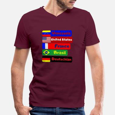 Countries countries - Men's V-Neck T-Shirt