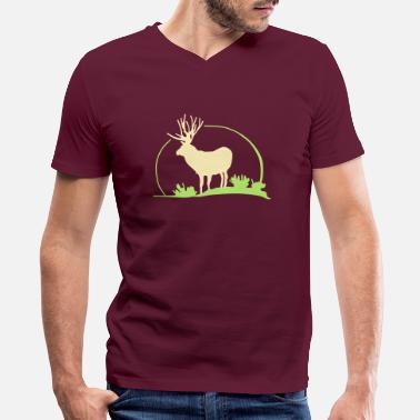 Red Deer wild deer,red deer,roe deer,animal,Wilderness, - Men's V-Neck T-Shirt