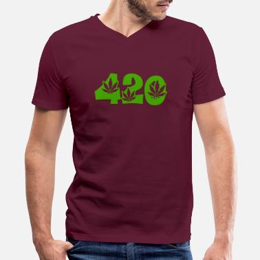 Happy 420 420 - Men's V-Neck T-Shirt