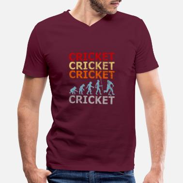 Betting Retro Vintage Style Evolution Cricket Player - Men's V-Neck T-Shirt