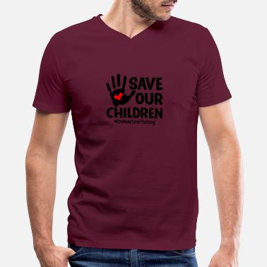 Children save our children guys - Men's V-Neck T-Shirt