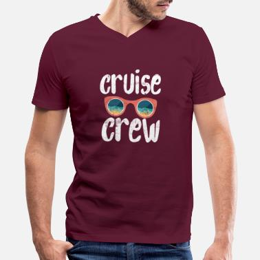 Cruise Crew Vacation Sailor Boating Crew - Men's V-Neck T-Shirt