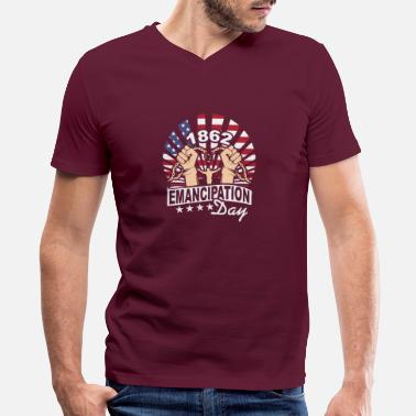 Emancipation emancipation day - Men's V-Neck T-Shirt