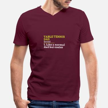 Tennis Table Tennis Dad - Men's V-Neck T-Shirt