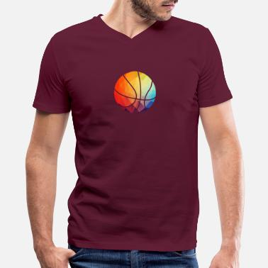 Geometric Cool Basketball Shape Gift Topology Ball - Men's V-Neck T-Shirt