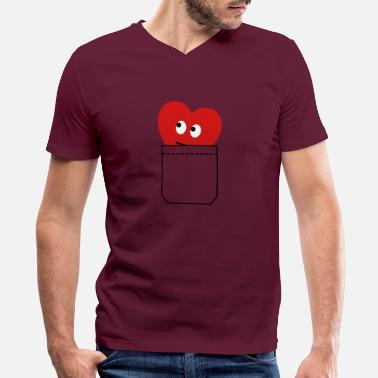 Children heart in pocket - Men's V-Neck T-Shirt