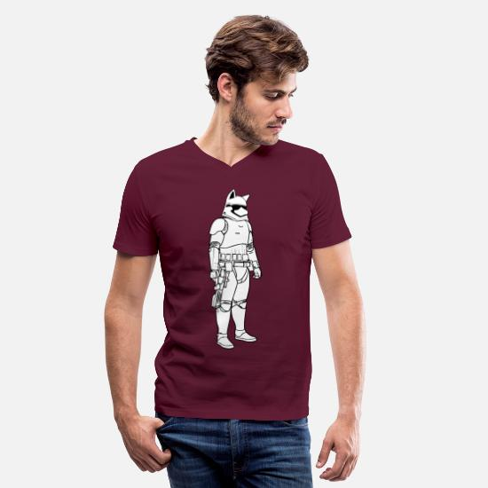 Play T-Shirts - Pup Play Puppy Play - Men's V-Neck T-Shirt maroon
