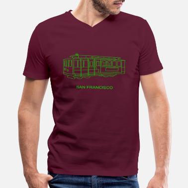 Cable Car San Francisco Cable Car - Men's V-Neck T-Shirt