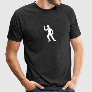 ninja guy with a ninja star - Unisex Tri-Blend T-Shirt