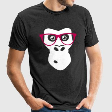 Ape with glasses - Unisex Tri-Blend T-Shirt