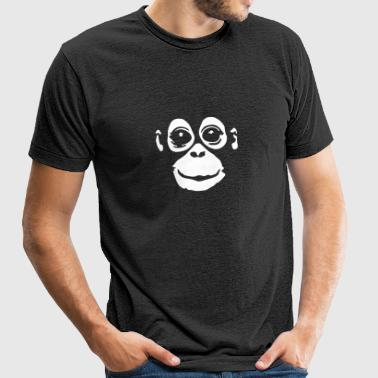 orangutan (negative colors) - Unisex Tri-Blend T-Shirt