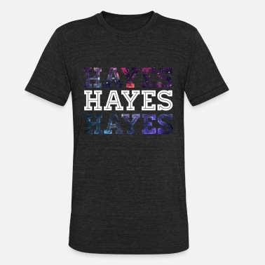 Hayes Galaxy Print Hayes Graphic T-Shirt. - Unisex Tri-Blend T-Shirt