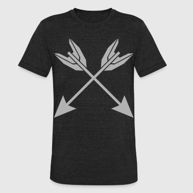 Arrows arrowhead bow cross - Unisex Tri-Blend T-Shirt