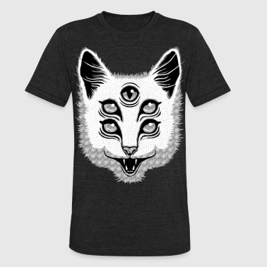 Horror Creep Cat - Unisex Tri-Blend T-Shirt