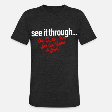 Seeing Red SEE IT THROUGH WHT RED - Unisex Tri-Blend T-Shirt