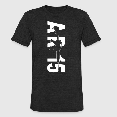 Ar-15 Gun AR 15 Assault Rifle gun - Unisex Tri-Blend T-Shirt
