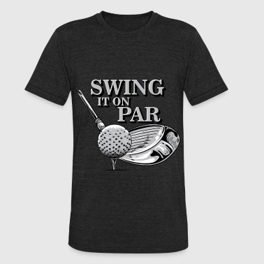 Swing it on par golfing golf tshirt - Unisex Tri-Blend T-Shirt