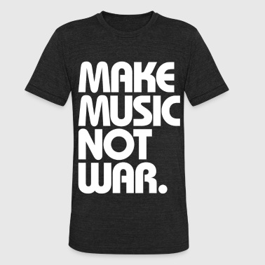 Mafia Wars Make Music Not War (White) - Unisex Tri-Blend T-Shirt