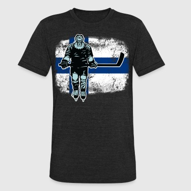 Finnish Hockey Finnish Lion Hockey Player - Unisex Tri-Blend T-Shirt