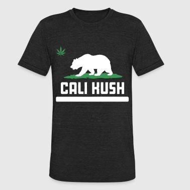 Cali Kush Cali Kush Grizzly Bear California Weed Pot 420 Gan - Unisex Tri-Blend T-Shirt