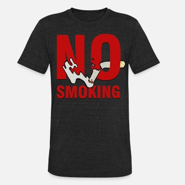 Anti-smoking Smoking - No Smoking - Unisex Tri-Blend T-Shirt