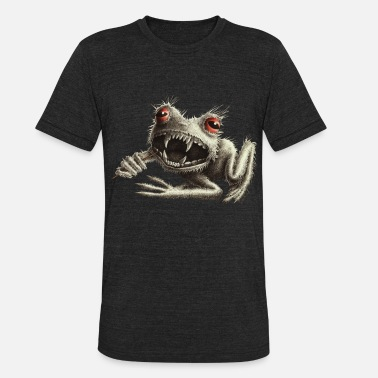 Black Toad Frog Werefrog - Frog with Toothpick - Unisex Tri-Blend T-Shirt