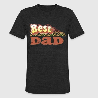 Dad Clothes Best Dad 70s Style Clothing - Unisex Tri-Blend T-Shirt
