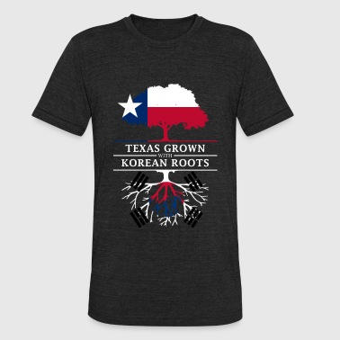 Proud Korean Roots Texan Grown with Korean Roots - Unisex Tri-Blend T-Shirt