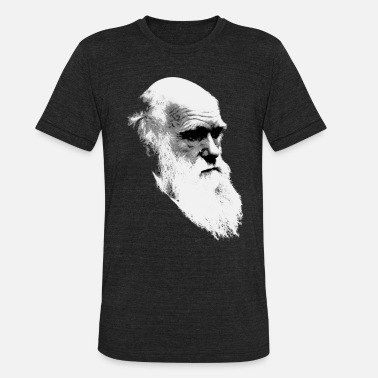 Viva La Evolucion Charles Darwin Face of Evolution - Unisex Tri-Blend T-Shirt